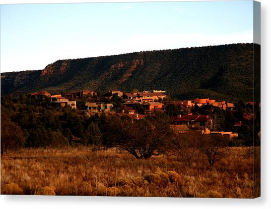 Red Rock Village Canvas Print by Jennilyn Benedicto