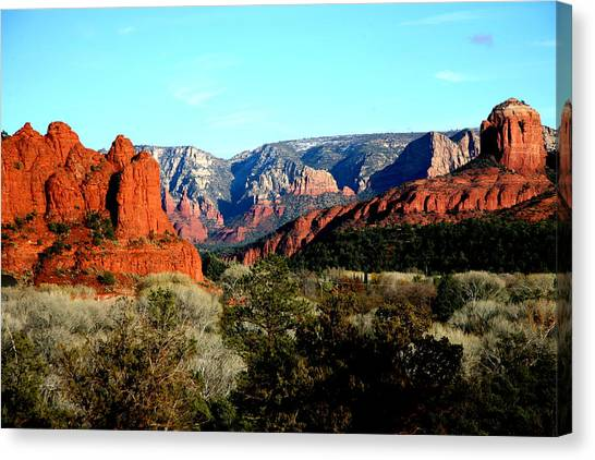 Red Rocks Canvas Print by Jennilyn Benedicto