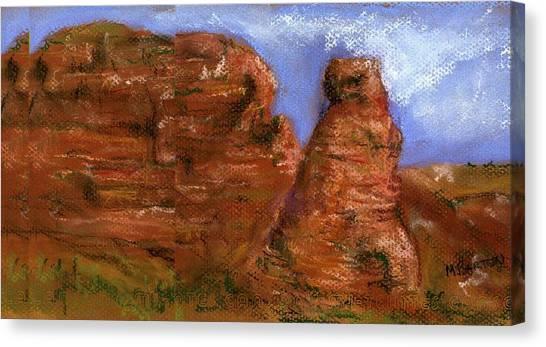 Red Rocks Canvas Print by Marilyn Barton