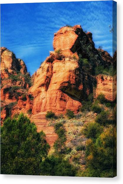Red Rocks Number 3 In Faye Canyon Canvas Print