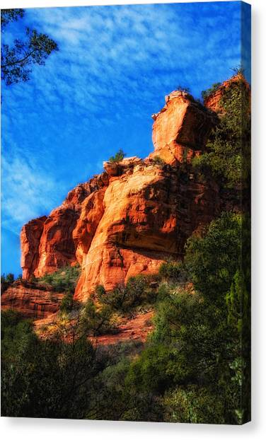 Red Rocks Number Four In Faye Canyon Canvas Print