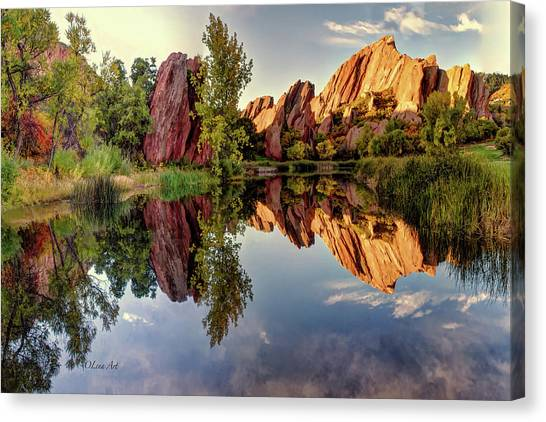Red Rocks Reflection Canvas Print