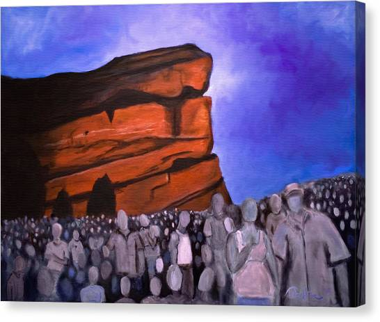 Red Rocks Canvas Print by Tabetha Landt-Hastings