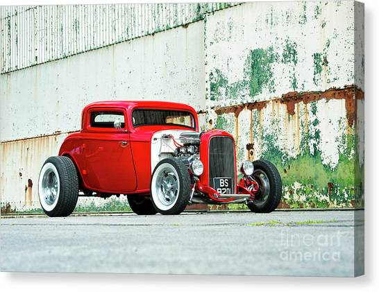 1932 Ford Canvas Print - Red Rod by Tim Gainey