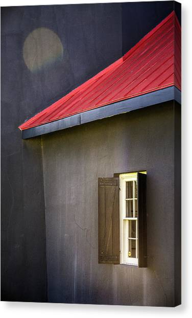 Red Roof Canvas Print