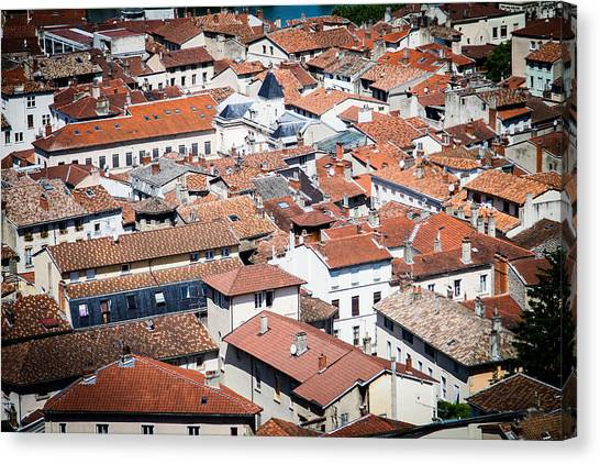 Canvas Print featuring the photograph Red Roof by Jason Smith