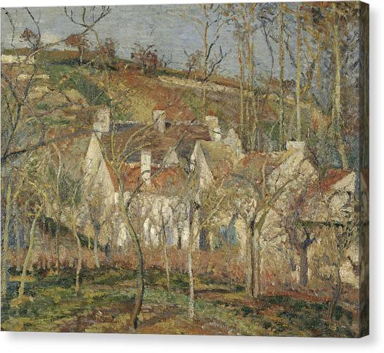 Camille Canvas Print - Red Roofs, Corner Of A Village, Winter by Camille Pissarro
