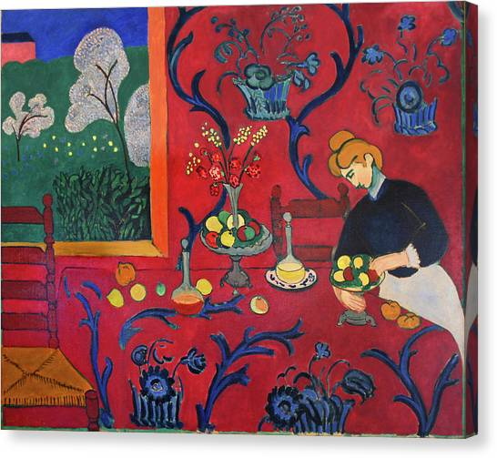 Red Room Canvas Print by Henri Matisse