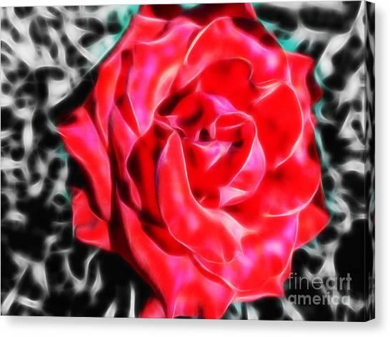 Red Rose Fractal Canvas Print