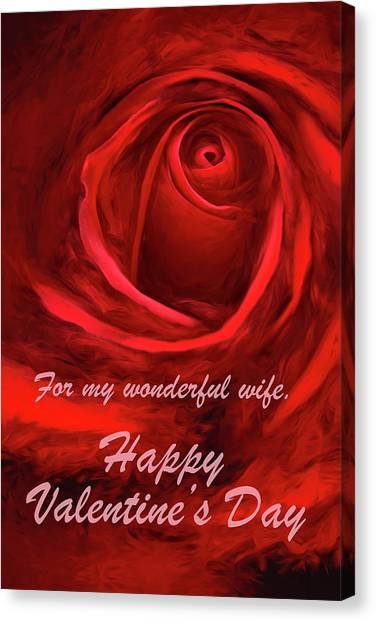 Red Rose II Canvas Print