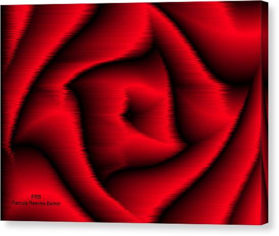 Canvas Print - Red Rose by Pamula Reeves-Barker