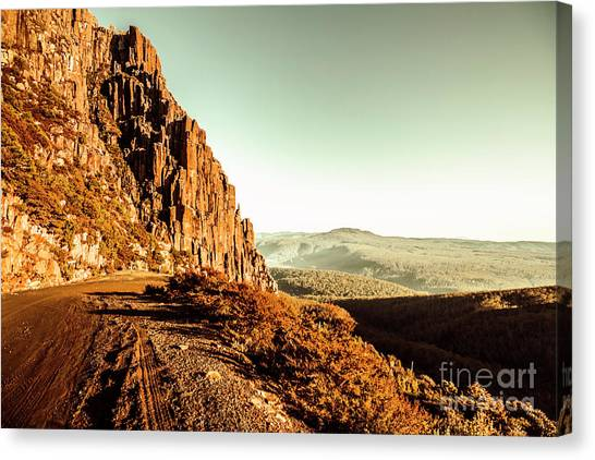 Barren Canvas Print - Red Rural Road by Jorgo Photography - Wall Art Gallery