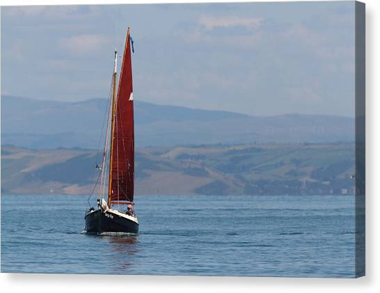 Red Sail Canvas Print