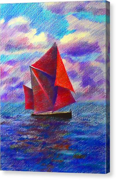 Red Sails Canvas Print by Anastasia Michaels