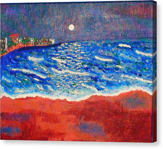 Red Sands Of Havana Canvas Print