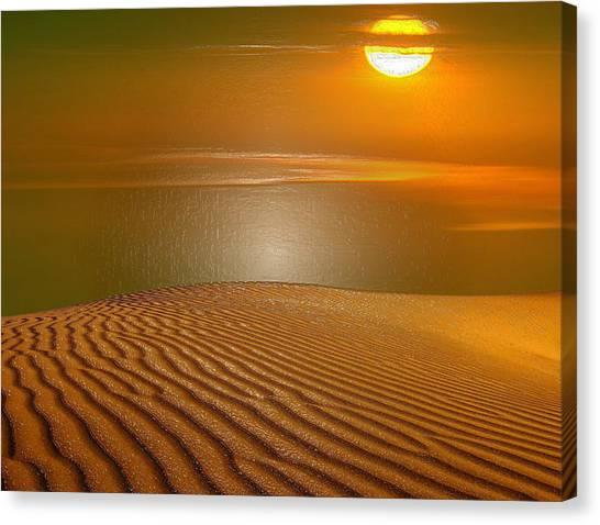 Arabian Desert Canvas Print - Red Sands by Scott Mendell