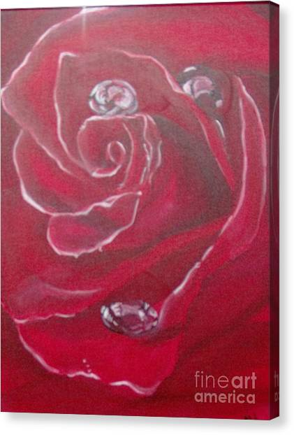 Canvas Print featuring the painting Red by Saundra Johnson