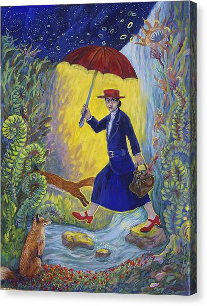 Red Shoes Mary Poppins Canvas Print