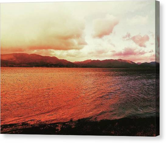 Canvas Print featuring the photograph Red Sky After Storms  by Chriss Pagani