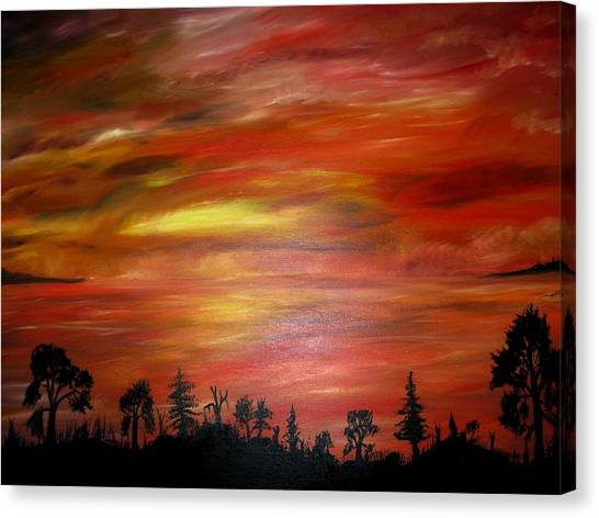 Red Sky Delight Canvas Print by Michael Schedgick