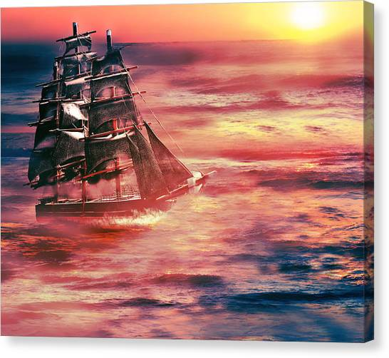 Red Sky In The Morning.... Sailors Take Warning Canvas Print