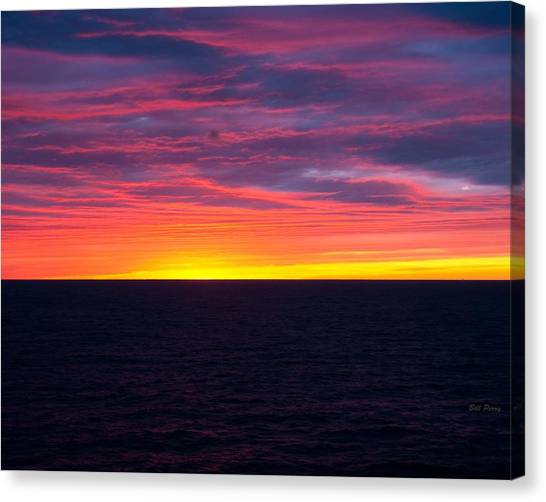 Red Skys In The Morning Canvas Print by Bill Perry