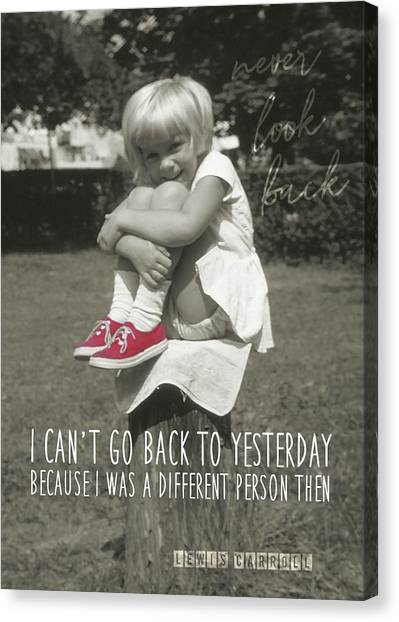 Red Sneakers Quote Canvas Print by JAMART Photography