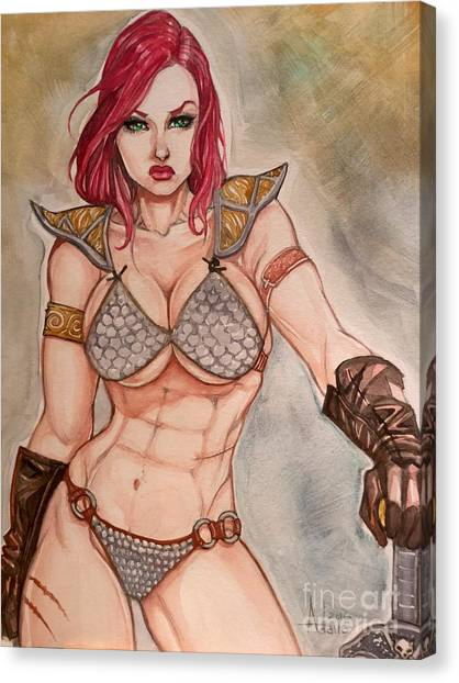 Red Sonja Canvas Print