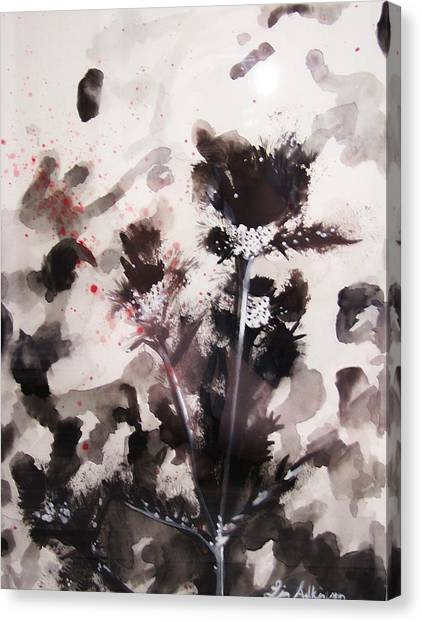 Red Spatter Canvas Print