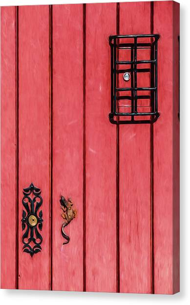 Red Speakeasy Door Canvas Print