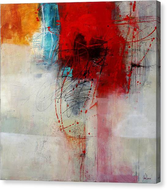 Collage Canvas Print - Red Splash 1 by Jane Davies