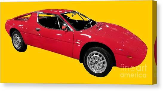 Red Sport Car Art Canvas Print