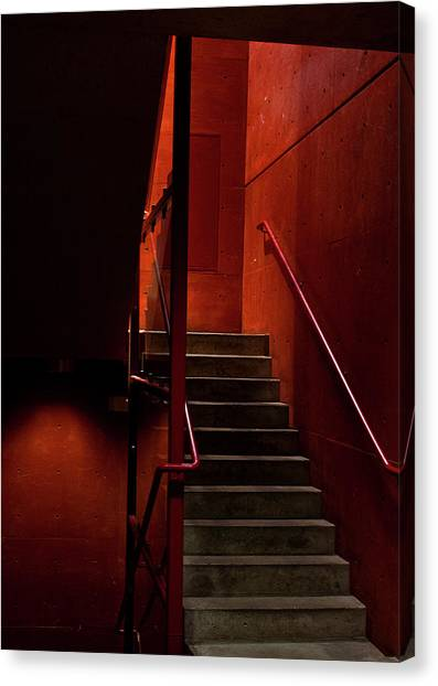Red Stairs Canvas Print