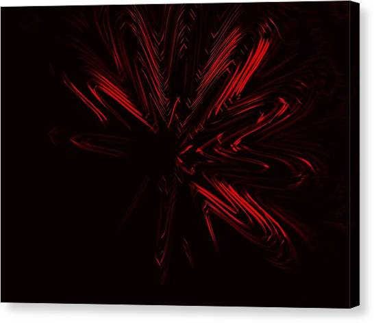 Contemporary Art Canvas Print - Red Star by Contemporary Art