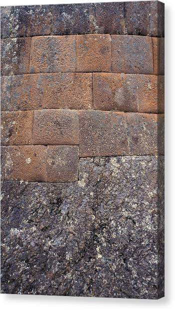 Red Stone Bricks Canvas Print by Marcus Best