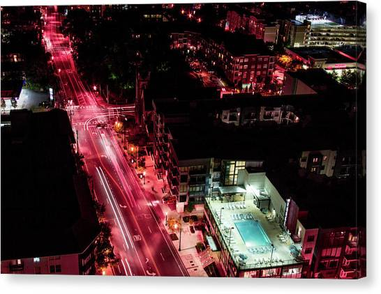 Red Streets Canvas Print