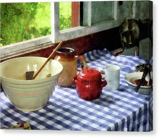 Red Sugar Bowl Canvas Print