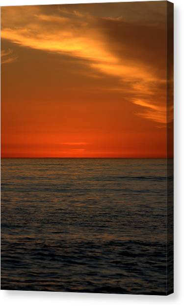 Red Sunset Canvas Print by Brad Scott