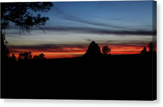 Red Sunset Strip Canvas Print