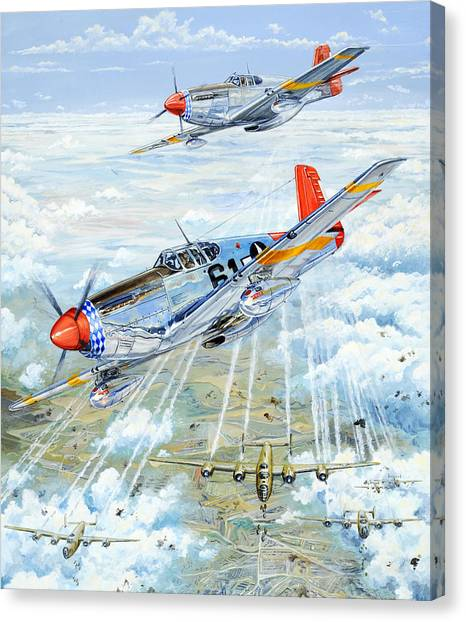 Air Force Canvas Print - Red Tail 61 by Charles Taylor
