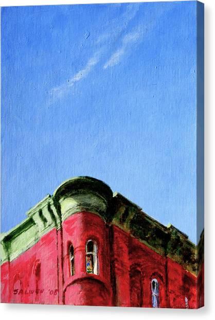 Red Tenement Canvas Print
