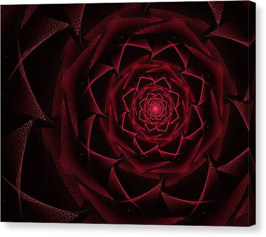 Red Textile Rose Canvas Print