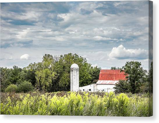 Pasture Canvas Print - Red Tin Roof by Tom Mc Nemar