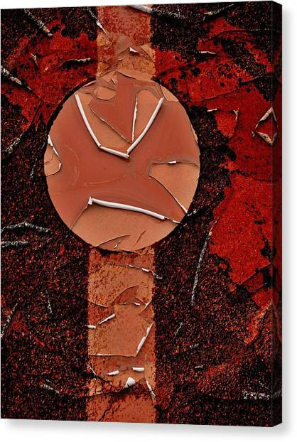 Red Totem With Headdress Canvas Print