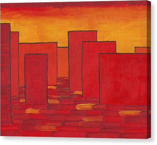 Red Town P1 Canvas Print