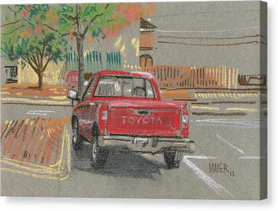 Toyota Canvas Print - Red Toyota by Donald Maier