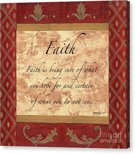 Biblical Canvas Print - Red Traditional Faith by Debbie DeWitt