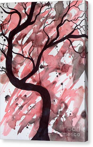 Red Tree Enchantment Canvas Print
