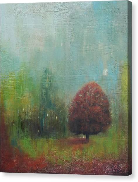 Red Tree  Canvas Print by Joya Paul