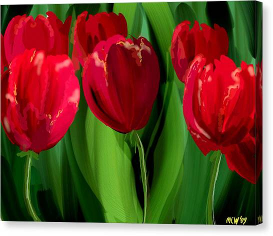 Red Tulips Canvas Print by Margaret Wingstedt